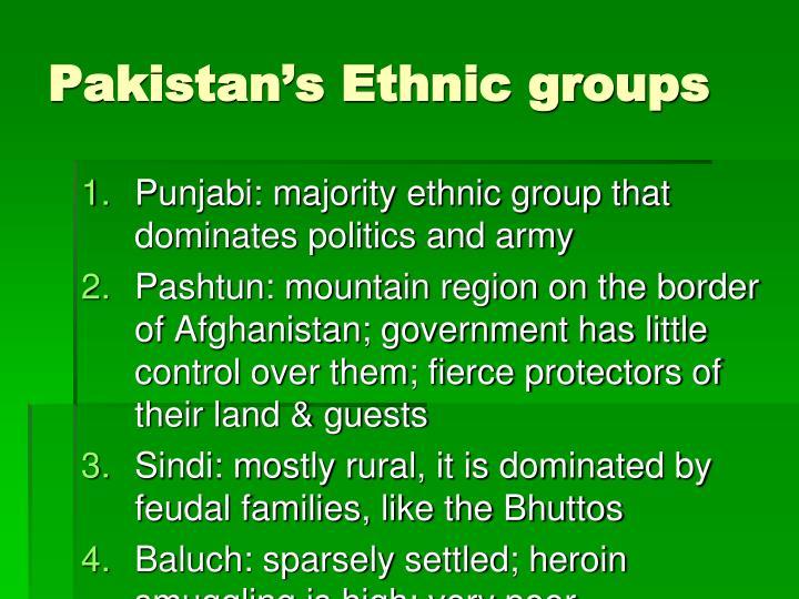 Pakistan's Ethnic groups