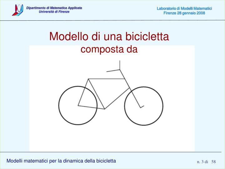 Modello di una bicicletta