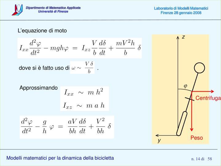 L'equazione di moto
