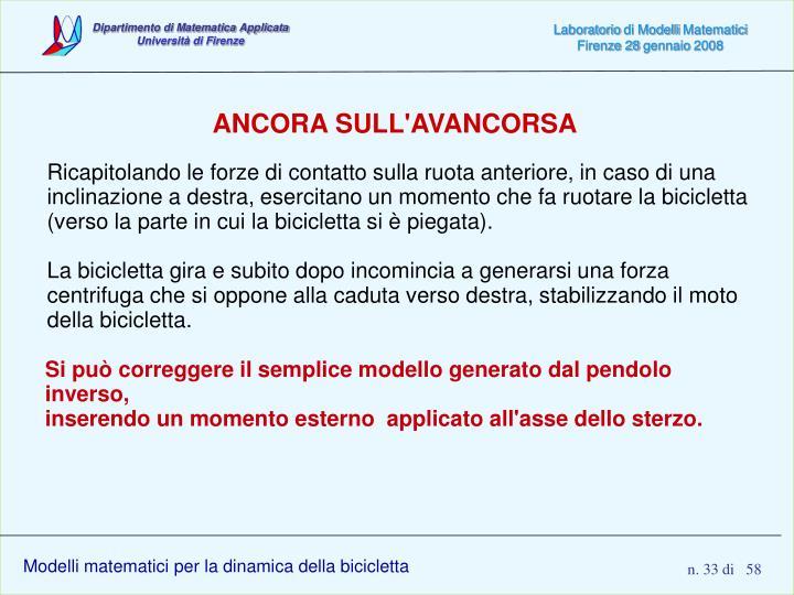 ANCORA SULL'AVANCORSA