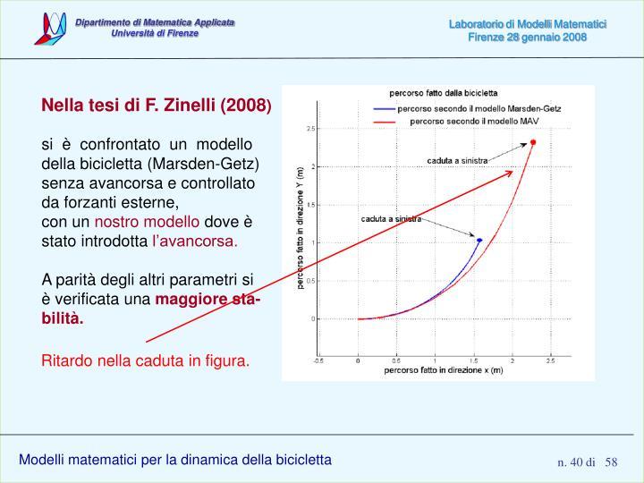 Nella tesi di F. Zinelli (2008