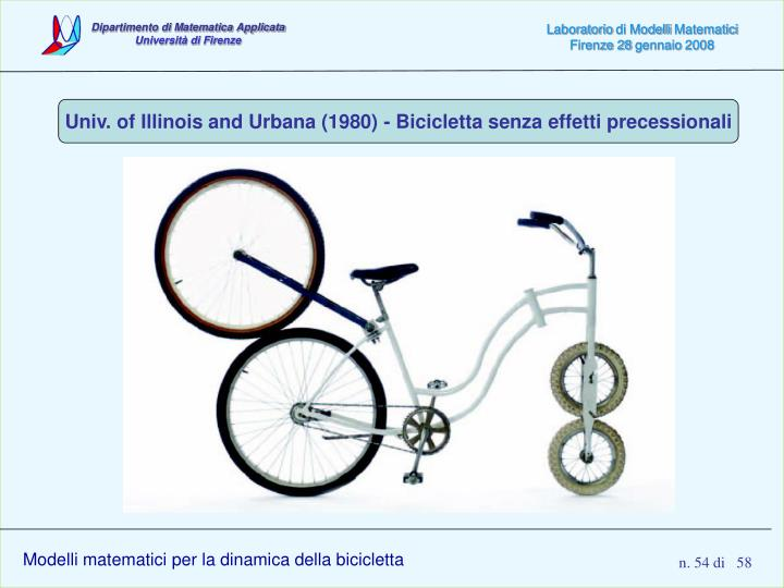 Univ. of Illinois and Urbana (1980) - Bicicletta senza effetti precessionali