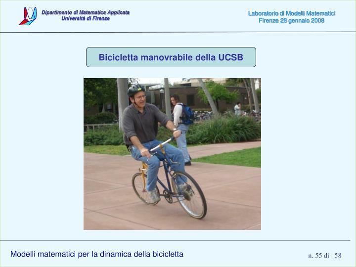 Bicicletta manovrabile della UCSB