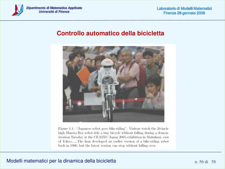 Controllo automatico della bicicletta