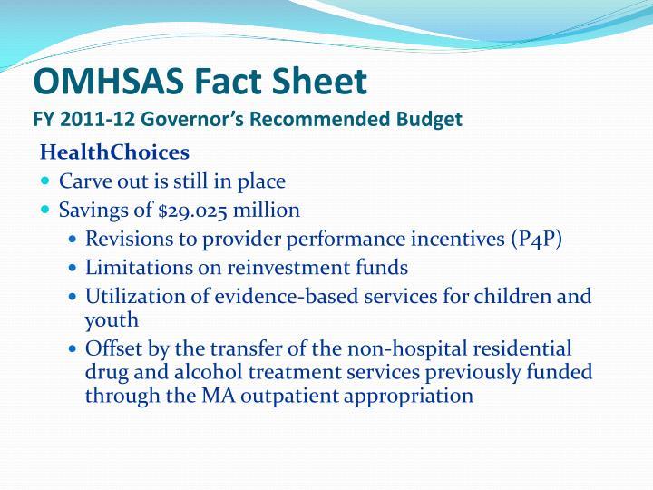OMHSAS Fact Sheet