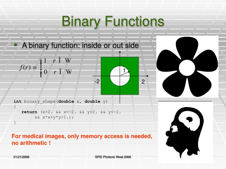 Binary Functions