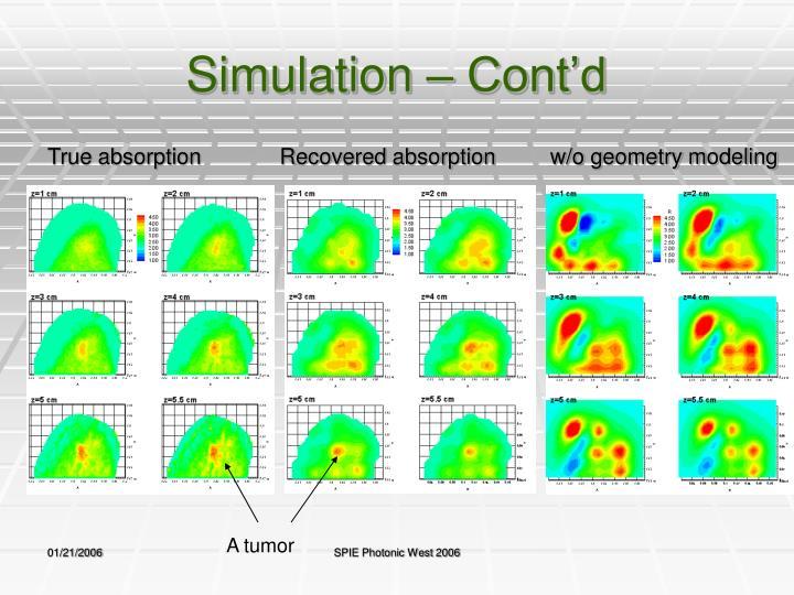 Simulation – Cont'd