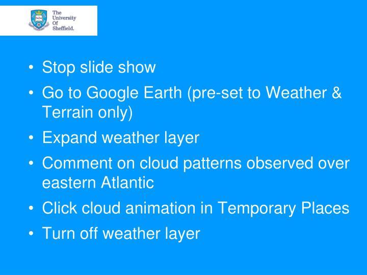 Stop slide show