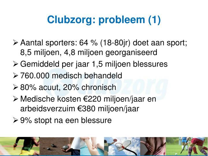 Clubzorg: probleem (1)