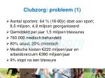 clubzorg probleem 1