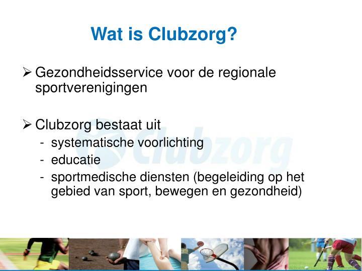 Wat is Clubzorg?