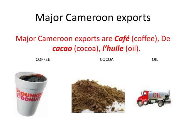 Major Cameroon exports