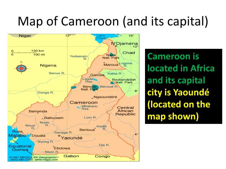 Map of Cameroon (and its capital)