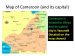 map of cameroon and its capital