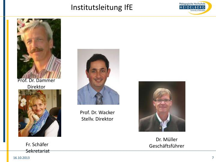 Institutsleitung IfE