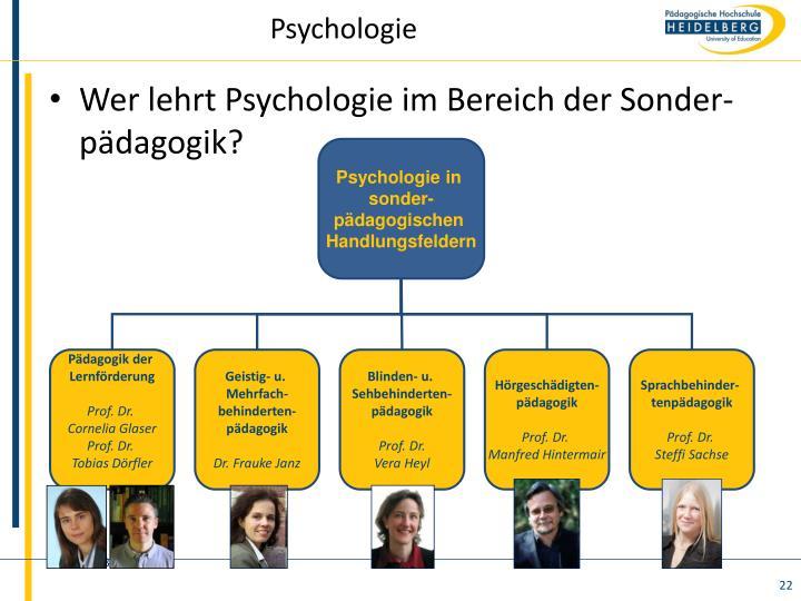 Psychologie in