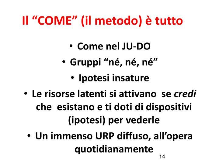"""Il """"COME"""" (il metodo) è tutto"""