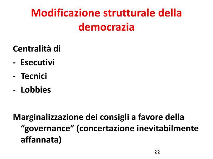 Modificazione strutturale della democrazia