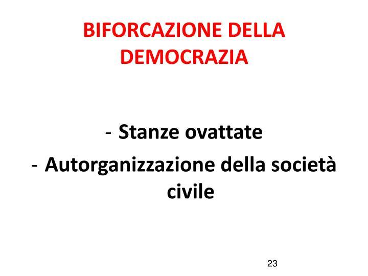 BIFORCAZIONE DELLA DEMOCRAZIA