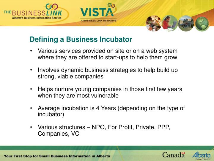 Defining a Business Incubator