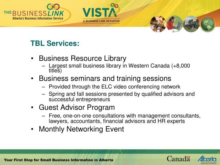 TBL Services: