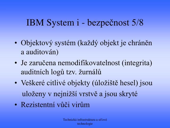 IBM System i - bezpečnost 5/8