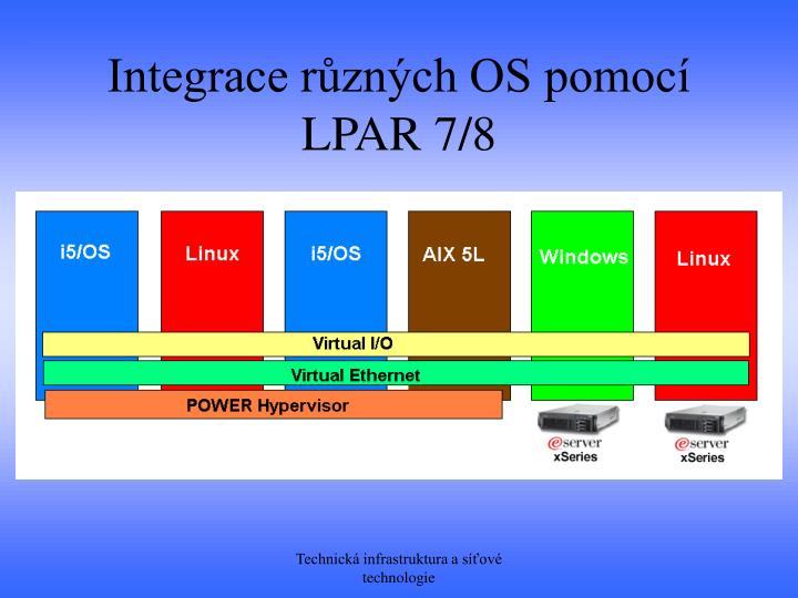 Integrace různých OS pomocí LPAR 7/8
