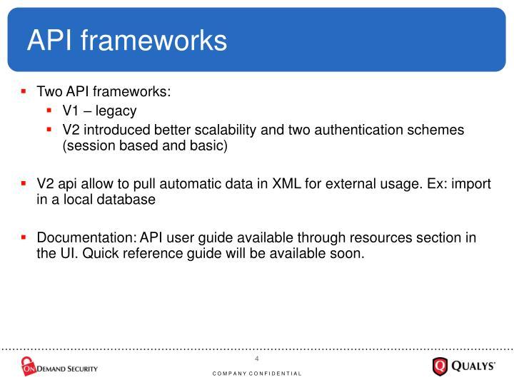 API frameworks