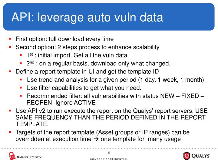 API: leverage auto vuln data