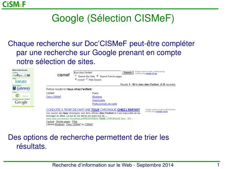 Google (Sélection CISMeF)