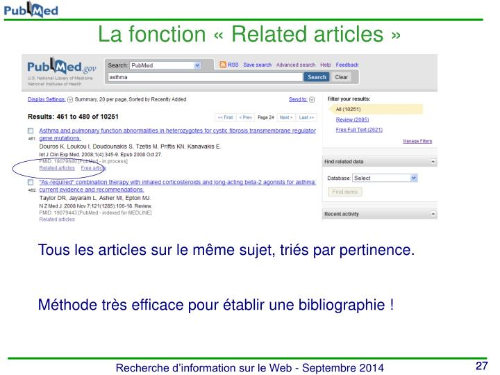 La fonction « Related articles »