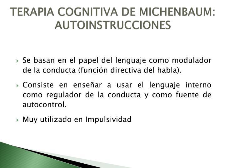 TERAPIA COGNITIVA DE MICHENBAUM: