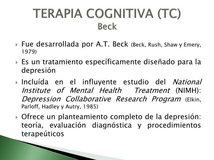 TERAPIA COGNITIVA (TC)