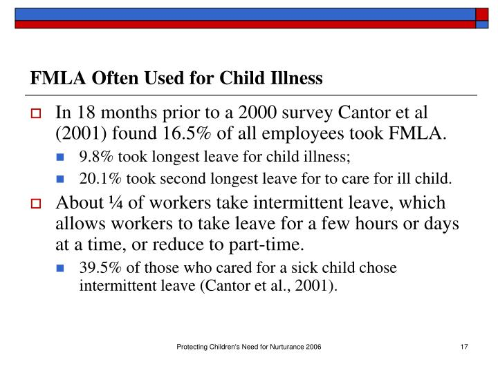 FMLA Often Used for Child Illness