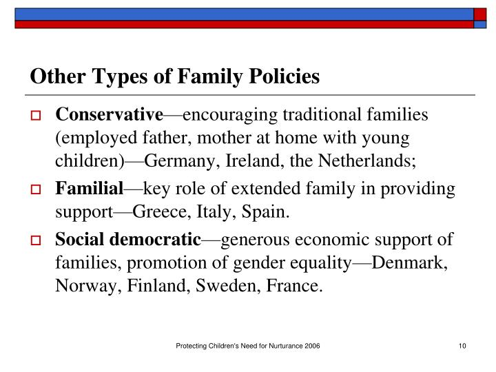 Other Types of Family Policies