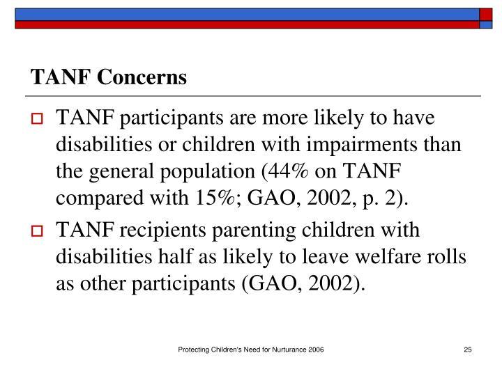 TANF Concerns