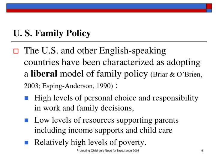 U. S. Family Policy