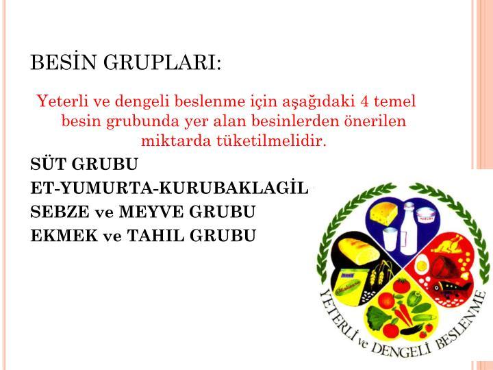BESN GRUPLARI: