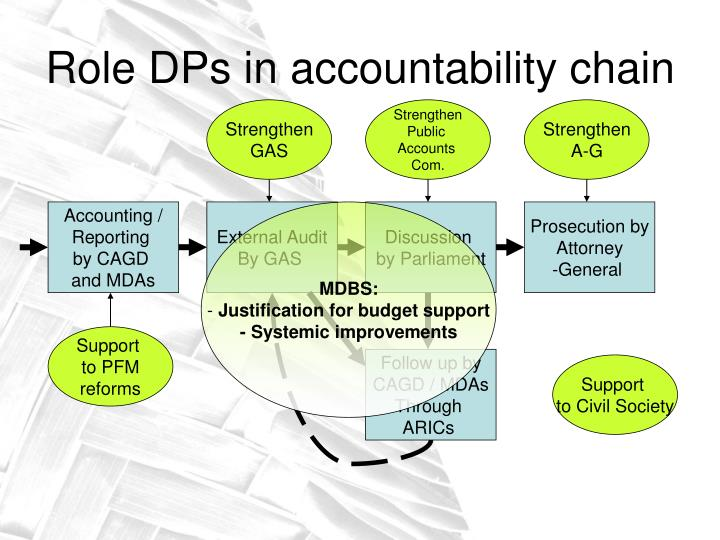 Role DPs in accountability chain