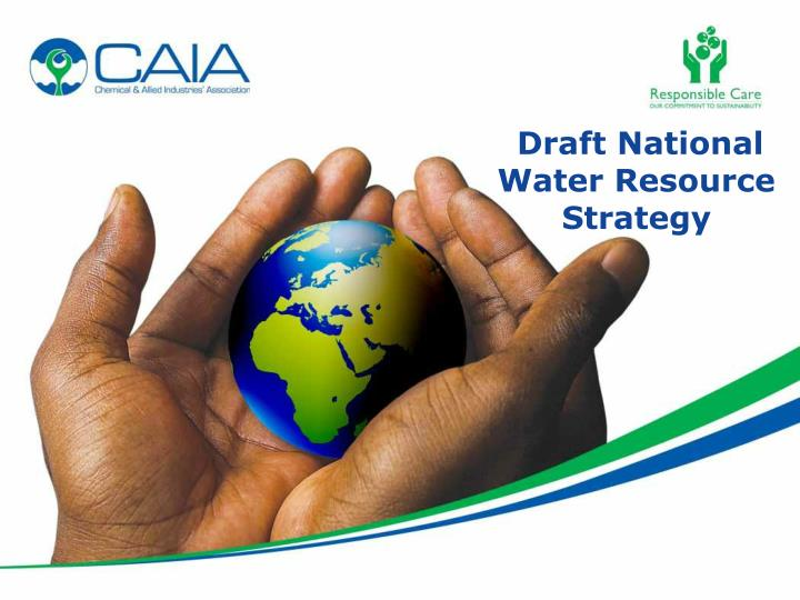 Draft national water resource strategy
