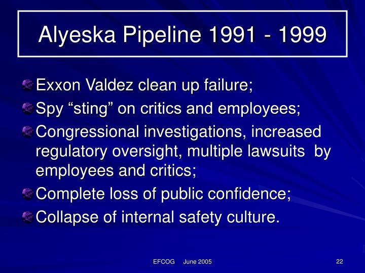 Alyeska Pipeline 1991 - 1999