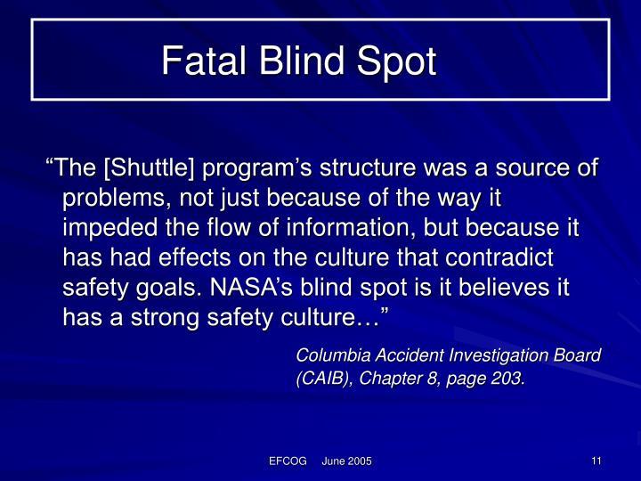 Fatal Blind Spot