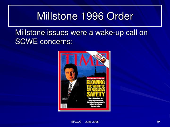 Millstone 1996 Order