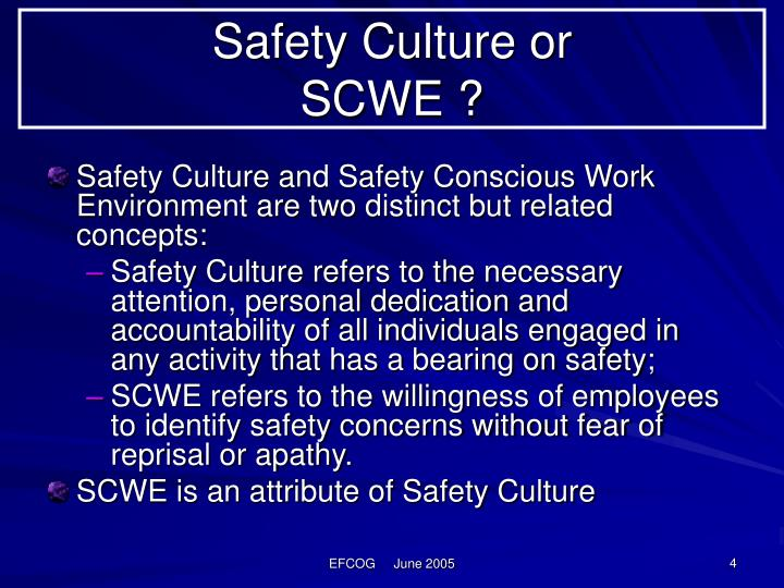 Safety Culture or
