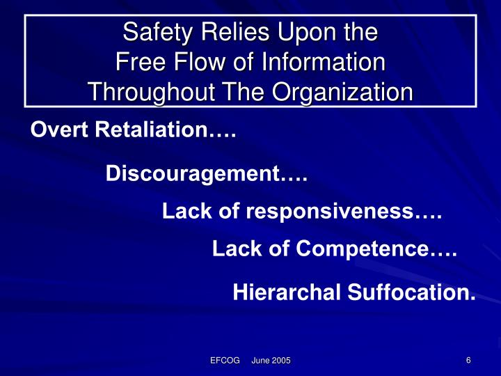 Safety Relies Upon the