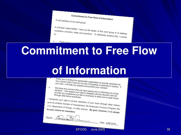 Commitment to Free Flow