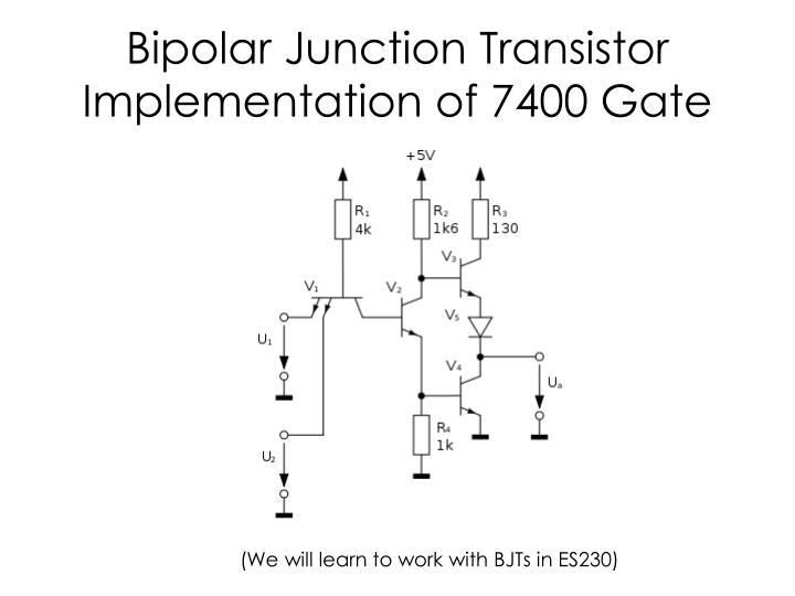 Bipolar Junction Transistor Implementation of 7400 Gate