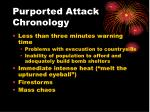 purported attack chronology