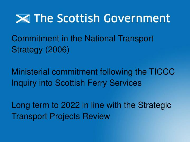 Commitment in the National Transport