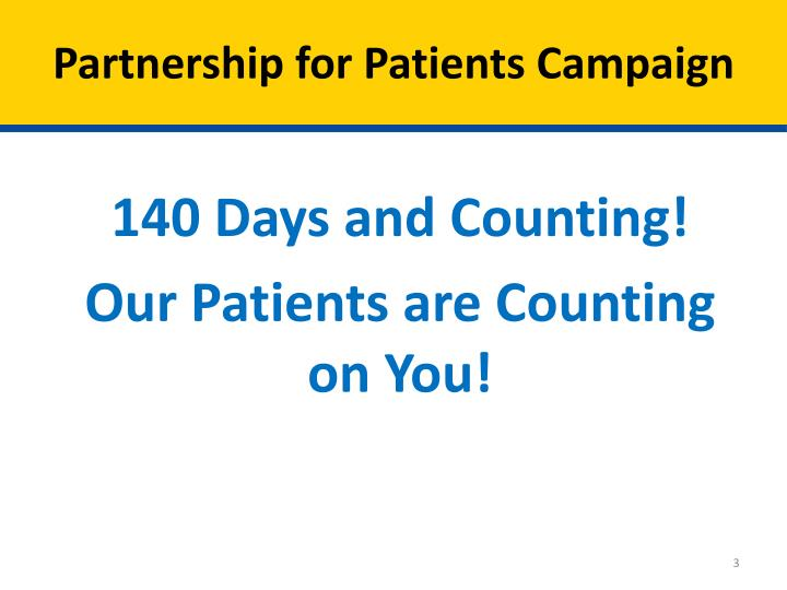 Partnership for patients campaign
